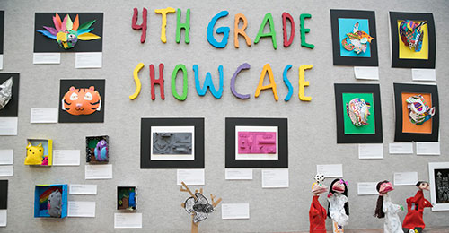 Image with text: 4th grade showcase