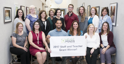 Fourteen Howard County public school teachers and staff recognized for receiving funding related to innovative instructional projects.
