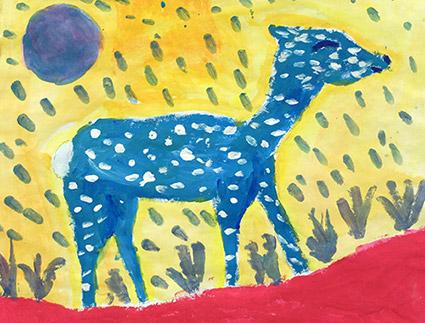 Painting of a deer