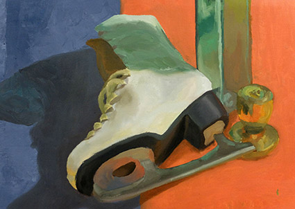 Painting of ice skates