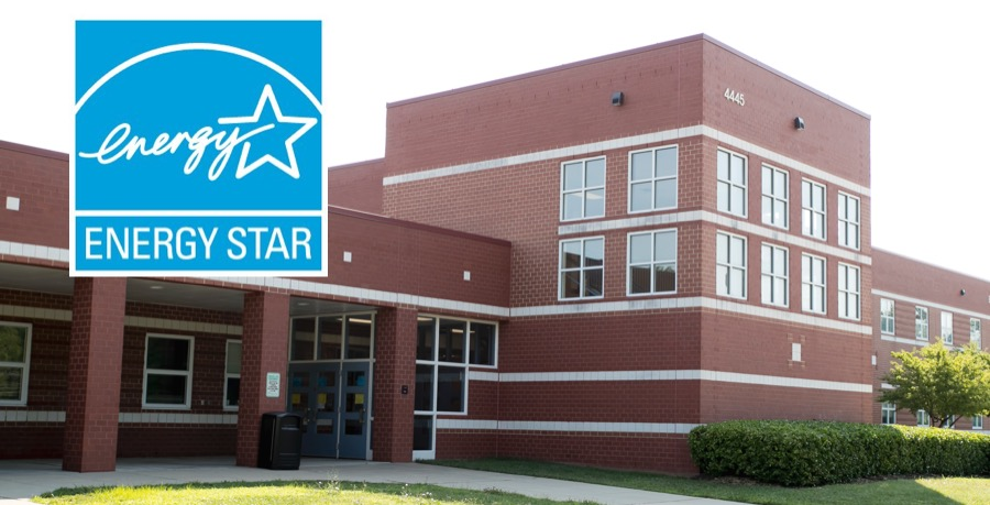 Energy Star logo with high school in background.
