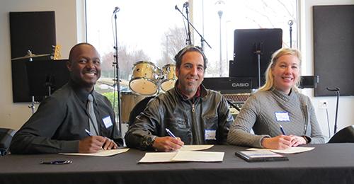 Music Partnership Signing