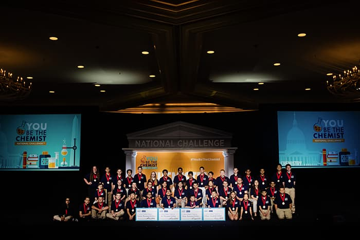 Participants in the You Be the Chemist Challenge.