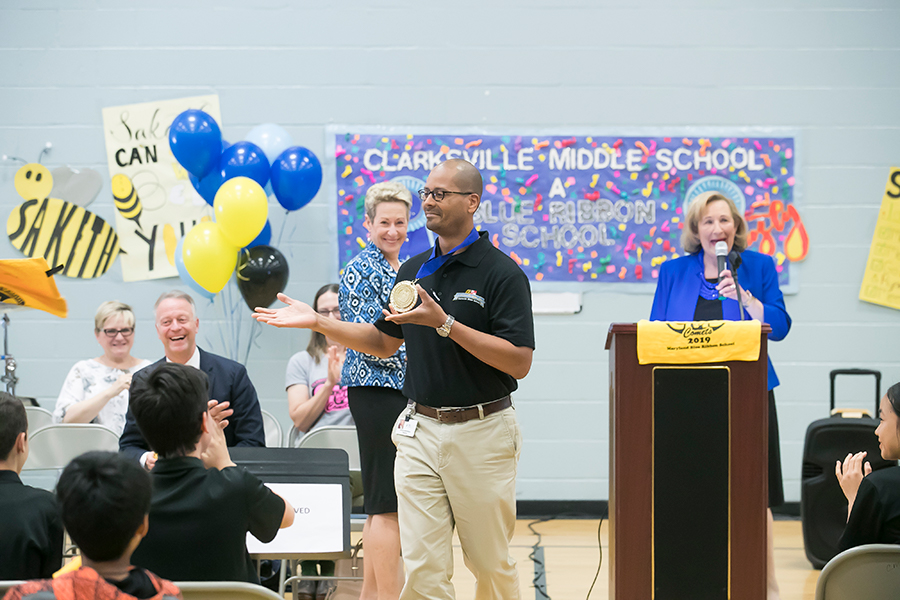 Clarksville Middle School Blue Ribbon awards ceremony