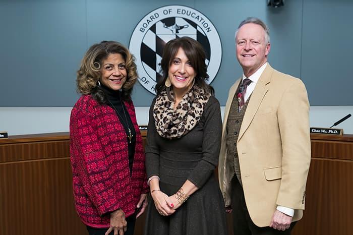 Mavis Ellis, Heidi Shorter, and Dr. Martirano.