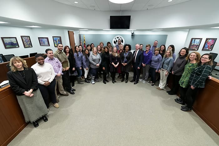 Group photo of HCPSS administrators.