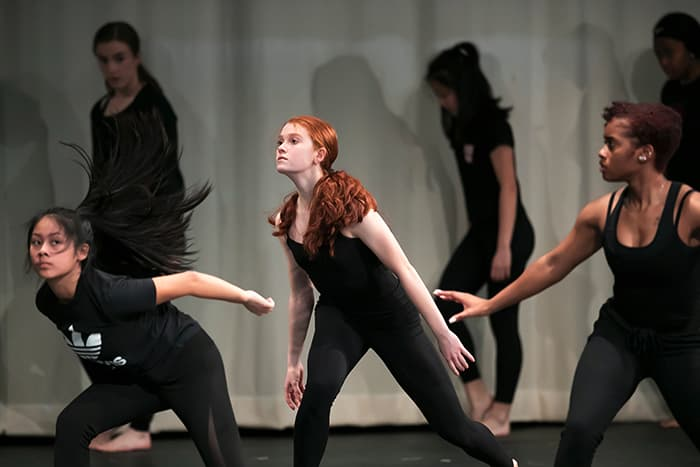 A group of female dancers.