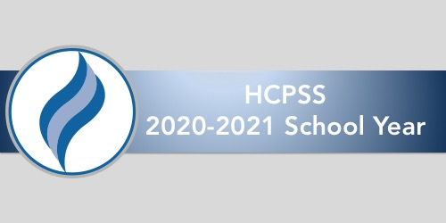 graphic of HCPSS flame and text stating 2020-2021 School Year