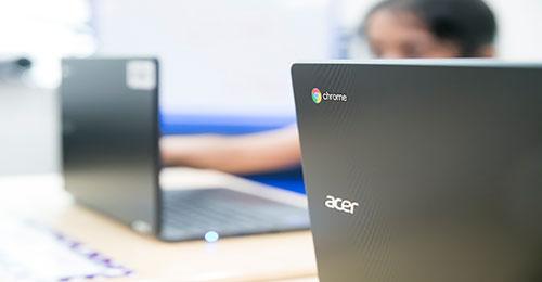 Chromebooks on desk