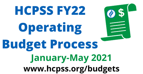 HCPSS FY22 Operating Budget graphic.