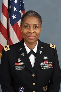 Lieutenant Colonel (US Army Retired) Patricia L. Marshall.