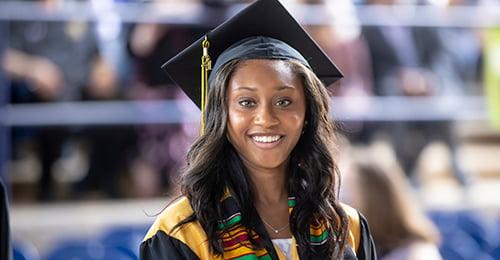 student at Mt. Hebron High School graduation