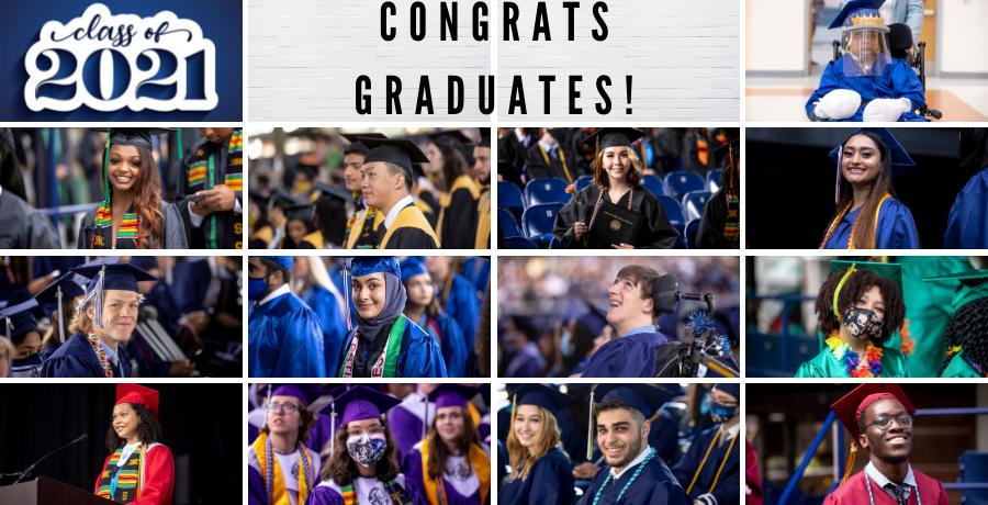 collage of 2021 graduation photos