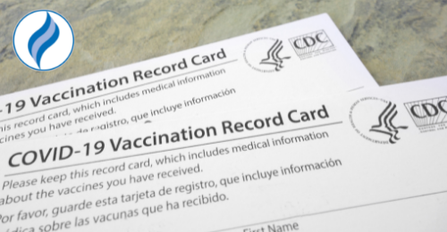 image of COVID-19 vaccination record card