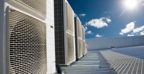 photo of HVAC units on a roof